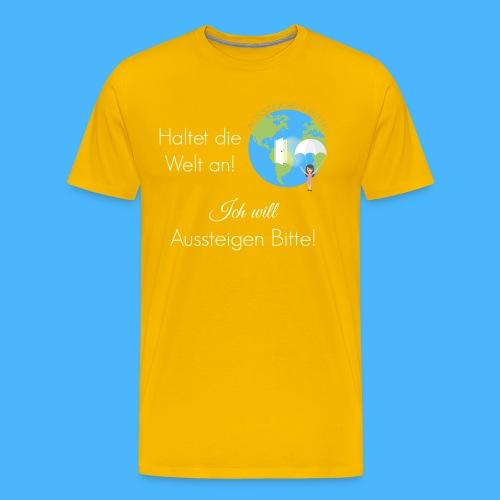 Logo Spruch weiß - Männer Premium T-Shirt
