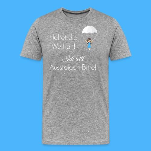 Fallschirm weiß - Männer Premium T-Shirt