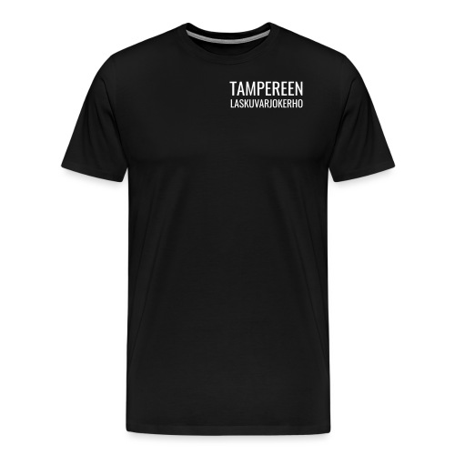 Teksti TAMLK logo CMYK Wh - Miesten premium t-paita