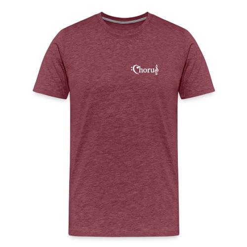 Chorus Kör Logo Vit EPS - Premium-T-shirt herr