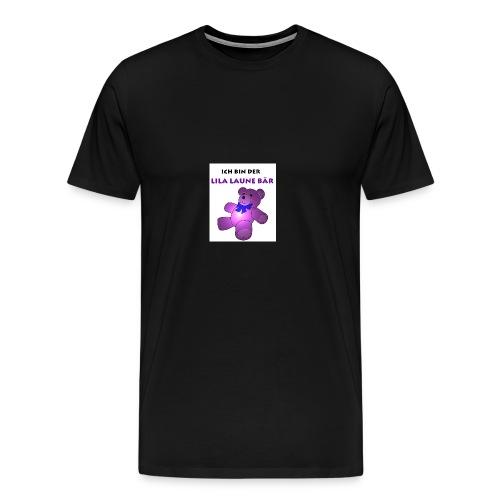 Ich bin der Lila Laune Bär - Männer Premium T-Shirt