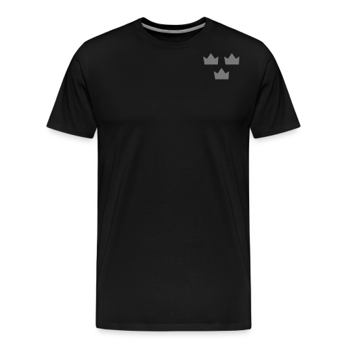 Tre kronor sRGB templet - Premium-T-shirt herr