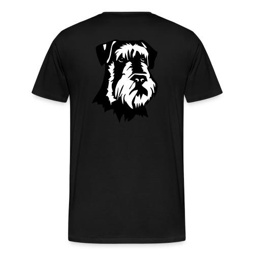Riesensnautzer head - Miesten premium t-paita