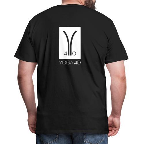 Y40 logotipo blanco - Camiseta premium hombre