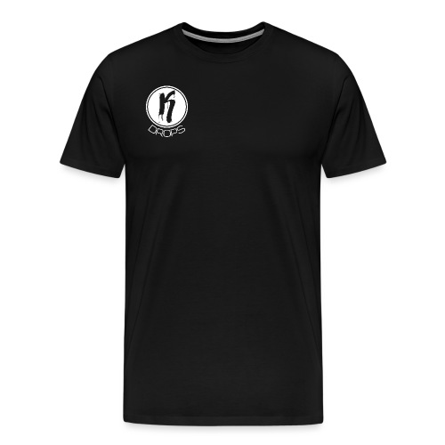 KDrops White Logo - Men's Premium T-Shirt