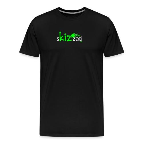 T-Shirt attillata sKizzati Kizomba Uomo verde fluo - Maglietta Premium da uomo