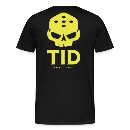 TID tryck rygg - Premium-T-shirt herr