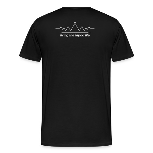 living the tripod life _ white - Männer Premium T-Shirt