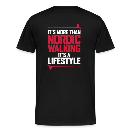 It's more than Nordic Walking - Miesten premium t-paita