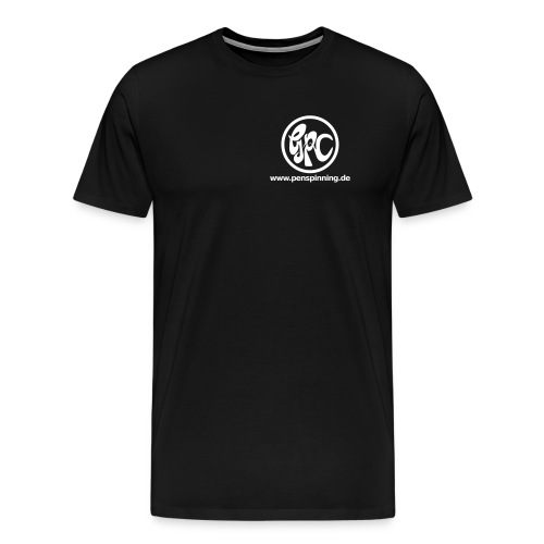 GPCLogo_domain_white - Männer Premium T-Shirt