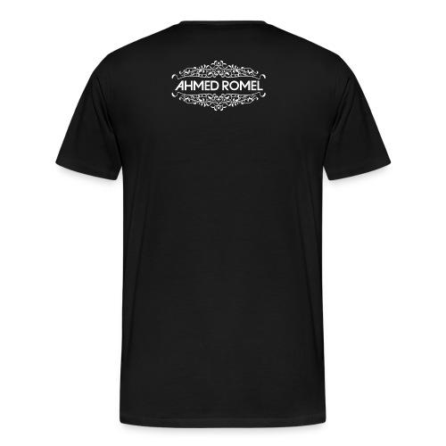 AR logo full white png - Men's Premium T-Shirt