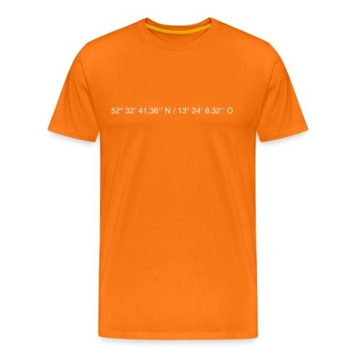 Koordinaten - weiss - Männer Premium T-Shirt