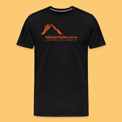 Logo mit Subline_kletterl - Männer Premium T-Shirt