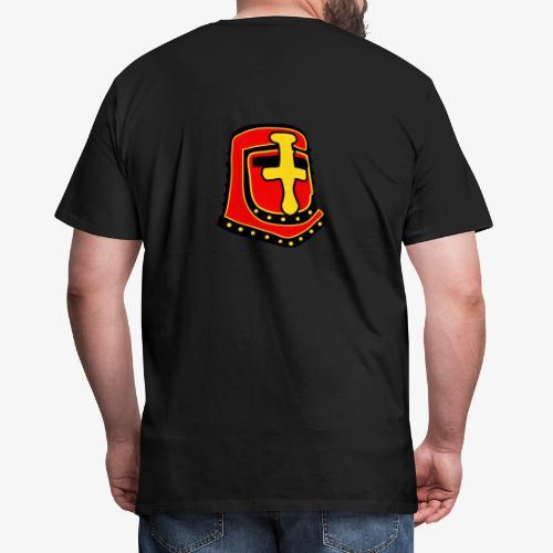 templar knight helmet fantasy - Men's Premium T-Shirt
