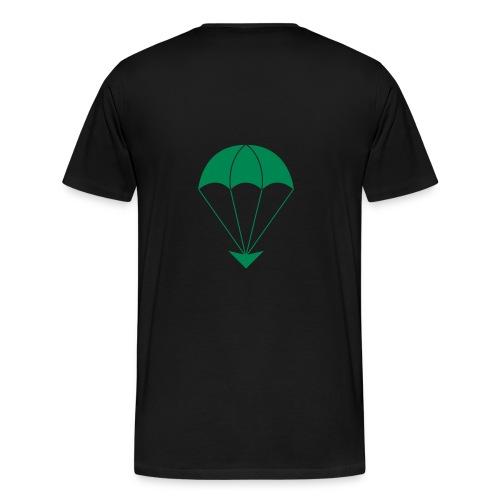 GA Fallschirm schwarzFlock - Männer Premium T-Shirt