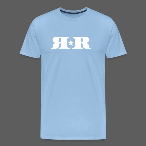 RR White Mirror Logo - Men's Premium T-Shirt