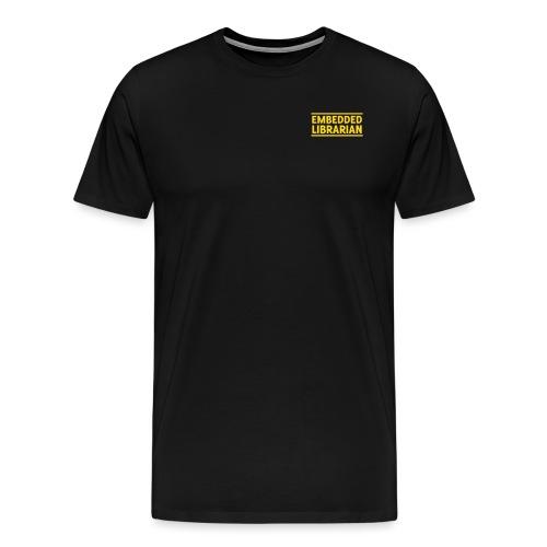 embedded librarian   zweizeilig mit linien - Männer Premium T-Shirt