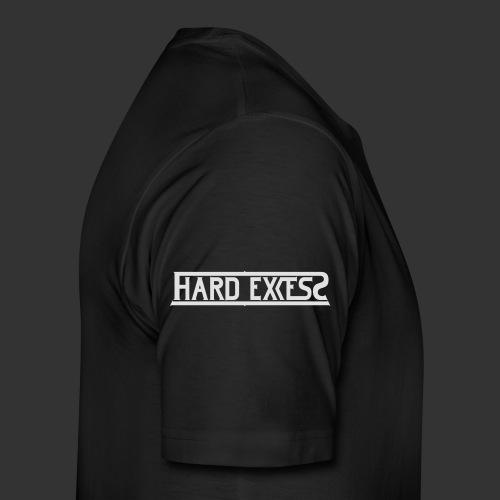 HARD EXCESS Logo weiß - Männer Premium T-Shirt
