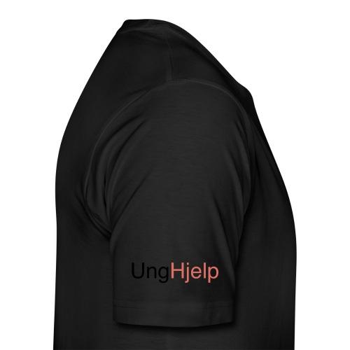 unghjelp sort - Premium T-skjorte for menn