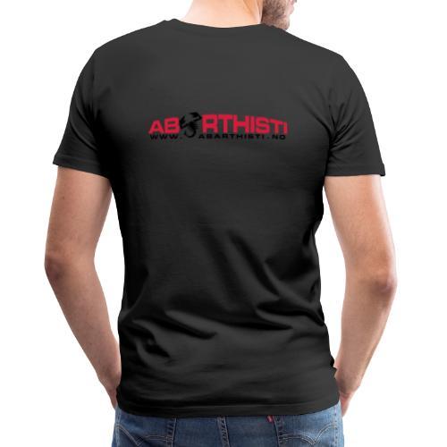 abarthlogored - Premium T-skjorte for menn