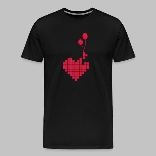 heart and balloons - Men's Premium T-Shirt