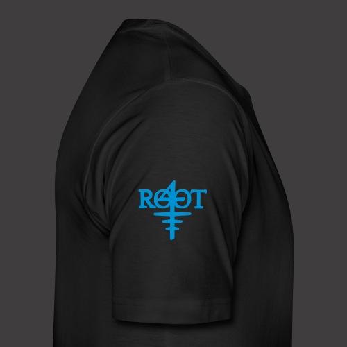 root4 logo weiss - Männer Premium T-Shirt