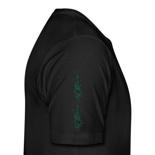 Yoga and fitness pants heart design - Men's Premium T-Shirt