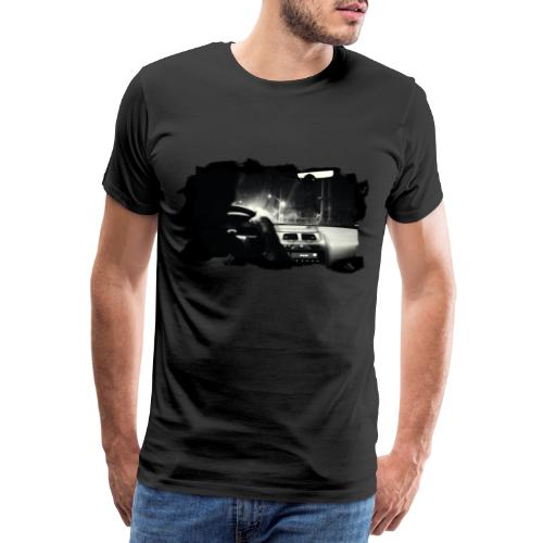 Driving at Night (with white PS logo) - Herre premium T-shirt