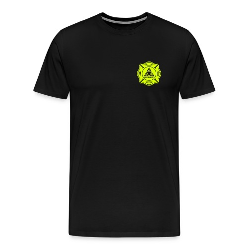 Feuerwehr ABC Einheit - Brust- Rücken- Ärmeldruck - Männer Premium T-Shirt