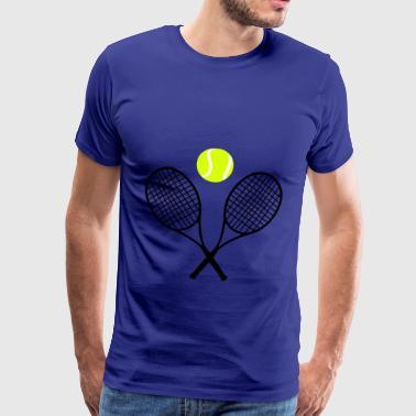 tennisracketar, Tennis - Premium-T-shirt herr