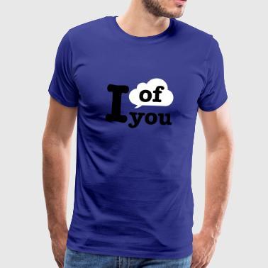 Tenk på du | skyen - Premium T-skjorte for menn