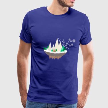 drijvende Mountain - Mannen Premium T-shirt