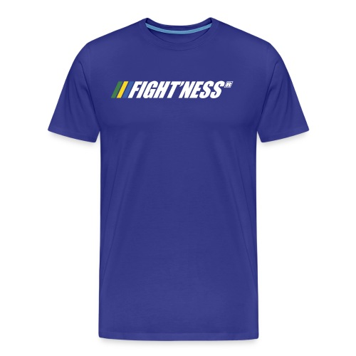 Logo FIGHT NESS Blanc - T-shirt Premium Homme