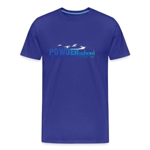 POWDERschool T-Shirt blau - Männer Premium T-Shirt