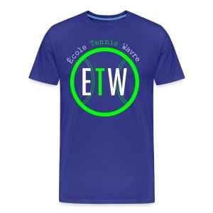 logo rond tennis vert - T-shirt Premium Homme