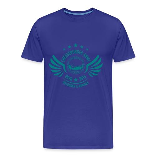 The official Cheeseburger Army logo - Premium T-skjorte for menn
