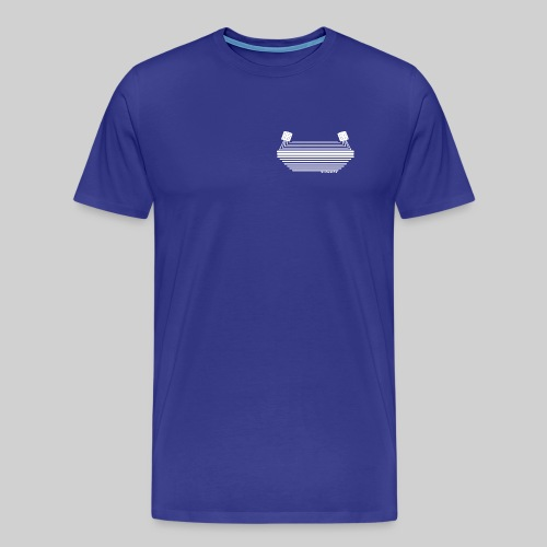 Stadionkultur white small Logo - Männer Premium T-Shirt