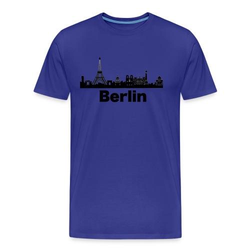 Verwirrende T-Shirts Berlin Paris Skyline - Männer Premium T-Shirt