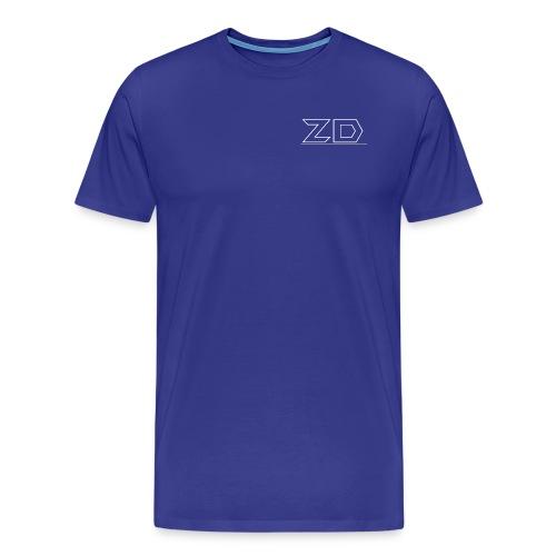 T shirt Text Hoodie Text Front - Herre premium T-shirt