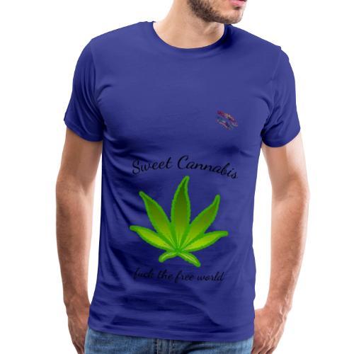 Cannabis free world Shirt Randy Design - Männer Premium T-Shirt