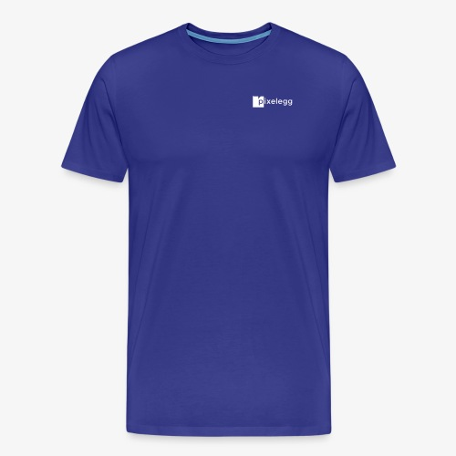 pixelegg Logo Weiss - einfärbbar!!! - Männer Premium T-Shirt