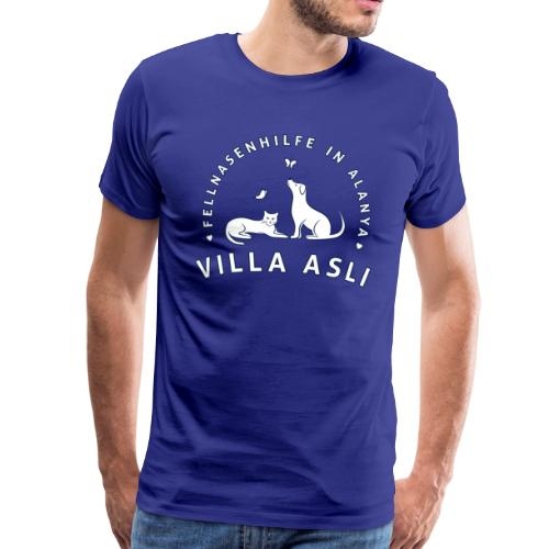 Logo Fellnasenhilfe Villa Asli (Weiss) - Männer Premium T-Shirt