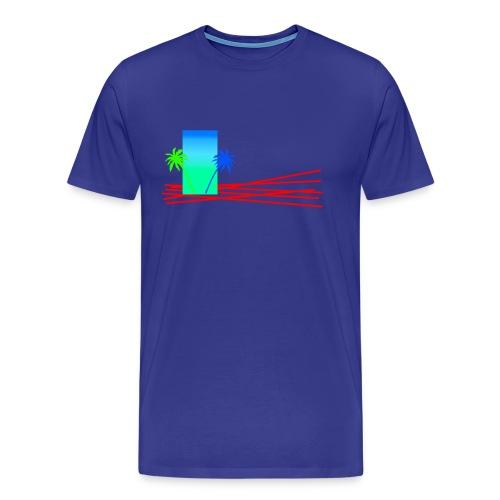 Palmenmix bunt - Männer Premium T-Shirt