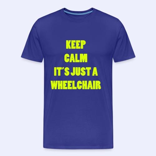 JustaWheelchair - Mannen Premium T-shirt