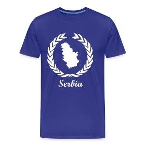 Connect ExYu Serbia White Edition - Männer Premium T-Shirt