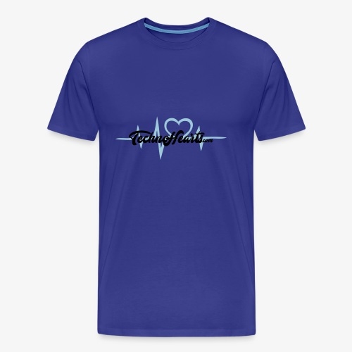 TechnoHearts logotype - Premium-T-shirt herr