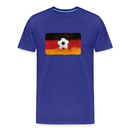 Fußball mit künstlerischer Deutschland Flagge. - Männer Premium T-Shirt