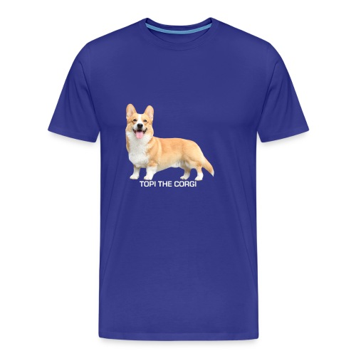 Topi the Corgi - White text - Men's Premium T-Shirt