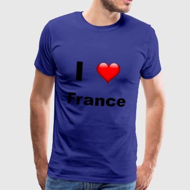 Ik hou van Frankrijk - Mannen Premium T-shirt