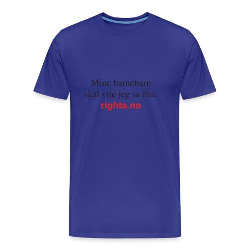 Hege---barnebarn3 - Premium T-skjorte for menn
